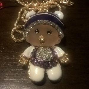 BJ GP Monchhichi Doll Baby Necklace